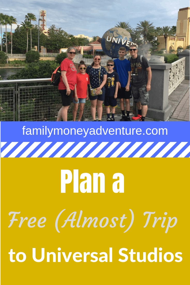 Our story of how we planned an almost free trip to Universal Studios Orlando vacation for our family.