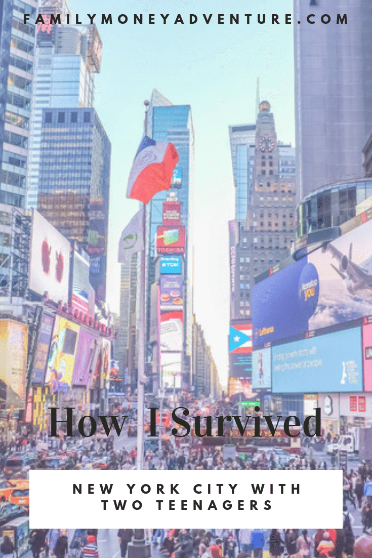 How I survived New York City (while sick) with our two teenagers #NYC #NewYorkCity #BigApple
